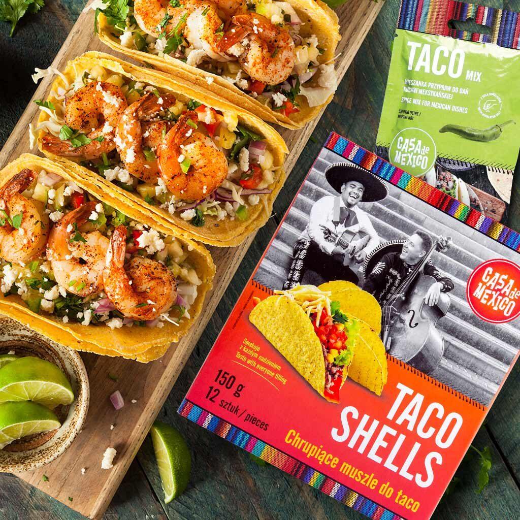Taco z zielonymi dodatkami